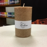 Brown Pillar Candle 11x7